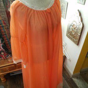 Vintage sheer lingerie robe